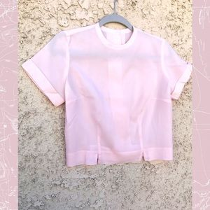 Vintage 💕 Light pink 1950's short sleeve blouse.